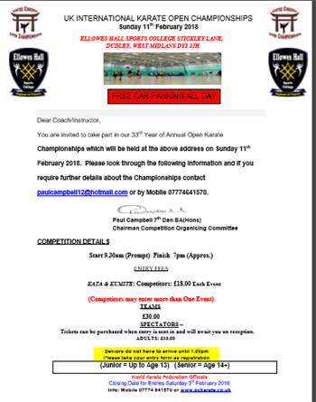 UK Open Karate Championships  | Paul Campbell
